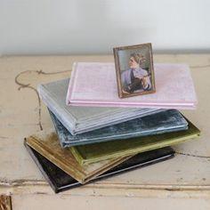 Handmade personalized lush velvet guest books by Velvet Raptor