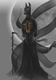 Anubis, Arkajyoti Nandi on ArtStation at https://www.artstation.com/artwork/aZzK9
