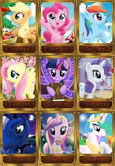 A combination shot of ALL my original 9 pony designs. They were created from the beginning to form one picture. Twilight in the center with the rest in a pattern facing outwards away from her. Note how the three princesses form almost a complete picture of their own: night, sunrise, day. • Also buy this artwork on wall prints, stickers, home decor, and more.