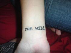 Run wild #tattoo