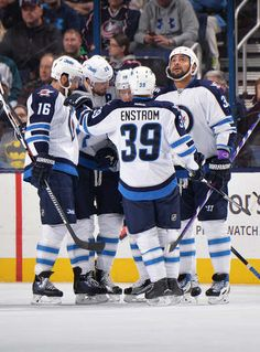 Jets - - Winnipeg Jets - Game and Event Photo Galleries Dustin Byfuglien, Jets Hockey, First Period, Columbus Blue Jackets, October 31, Nfl Fans, Columbus Ohio, Event Photos, Goal