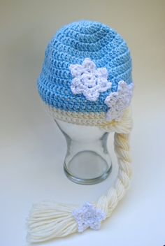 Snow Queen Elsa Hat MADE TO ORDER crochet Disney by MiniMaeCrochet, $20.00