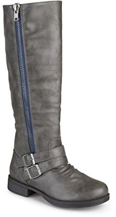 67b9167c0c953 $49.99 - Journee Collection Womens Regular Wide-Calf and Extra Wide Calf  Side Zip Buckle