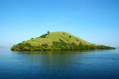 Green on Blue,a small island pictured en route to Rinca Island, Komodo National Park - Indonesia  by Ng Sebastian www.komodo-tours.travel/