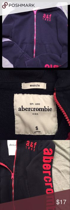 Abercrombie & Fitch boys hooded zip up jacket Boys zip up A&F size small black hooded jacket. Excellent condition, hardly worn by my son. abercrombie kids Jackets & Coats