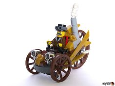 A horseless carriage! | 23 Fantastical Steampunk LEGO Builds Designed From Scratch