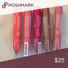 NYX CHUNKY DUNK LIP BUNDLE Of 5 Brand new NYX Makeup Lipstick