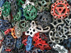 Valve Handles #pattern #shape such wonderful #colour