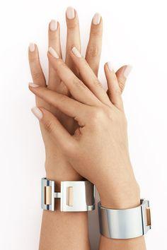 Tiffany T bar hinged cuffs in sterling silver with 18k gold. #TiffanyPinterest #TiffanyT