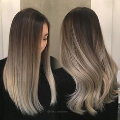 6 Great Balayage Short Hair Looks – Stylish Hairstyles Brown Ombre Hair, Brown Blonde Hair, Ombre Hair Color, Brunette Hair, Ombré Blond, Ash Ombre, Ashy Hair, Sombre Vs Ombre, Blonde And Brown Ombre