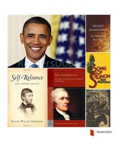 Here is the Book list of Barack Obama, the 44th President of the United States of America. Song of Solomon by Toni Morrison, which Obama referred as one of his favourite. Self Reliance by Ralph Waldo Emerson, For Whom the Bells Tolls by Ernest Hemingway,  The Federalist by Alexander Hamilton, James Madison, and John Jay and The Power and the Glory by Graham Greene are the most significant books of his life.