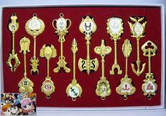 Fairy Tail Weapon Keychain Set FLKY9750