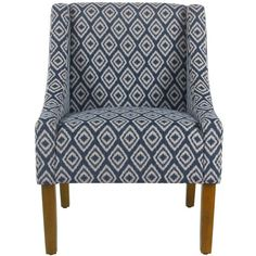 Swoop Arm Chair - HomePop : Target ($195) ❤ liked on Polyvore featuring home, furniture, chairs, accent chairs, swoop chair, swoop armchair, swoop arm chair and swoop accent chair