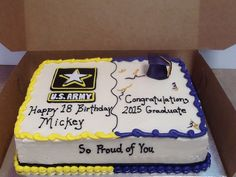 Army and graduation cake