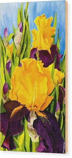 Supreme Sultan Iris Painting by Janis Grau - Supreme Sultan Iris Fine Art Prints and Posters for Sale Watercolor Flowers, Watercolor Paintings, Watercolors, Iris Art, Iris Painting, Iris Flowers, Arte Floral, Framed Prints, Art Prints