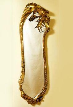Antoni Gaudi (1852-1926) - Calvet Mirror. Carved & Gilt Wood and Mirrored…