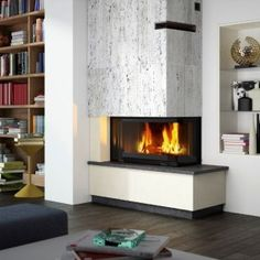 PORTLAND - Cheminées Philippe Cosy and inviting living space with the 'new' Radiante 747 2V. Optional retractable door. www.chemphilaust.com.au