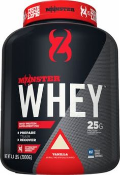 CytoSport Monster Whey Vanilla 4.4 Lbs. CYTO3520026 Vanilla - Contains 25g of Protein from Whey Protein Concentrate!*