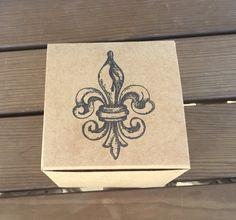 Fleur De Lis favor box french wedding favor box by EverlongEvents