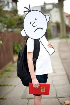 Wimpy Kid Children's Book Characters Costumes, Easy Book Character Costumes, Character Day Ideas, Easy Book Week Costumes, Book Characters Dress Up, Character Dress Up, Book Costumes, World Book Day Costumes, Teacher Costumes