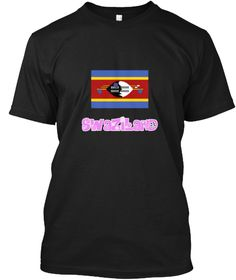 Swaziland Flag Pink Flower Design Black T-Shirt Front - This is the perfect gift for someone who loves Swaziland. Thank you for visiting my page (Related terms: I Heart Swaziland,Swaziland,Swazi,Swaziland Travel,I Love My Country,Swaziland Flag, Swaziland Map,S #Swaziland, #Swazilandshirts...)