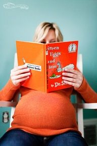 "For your baby shower ask guests to bring a book instead of a card.  ""Here is something that won't be to hard, please bring a book instead of a card."""