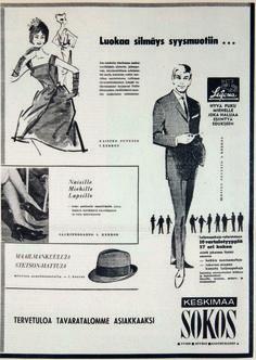 Kun Sokos avattiin, alkoi mainoksetkin muuttua tyylikkäiksi.