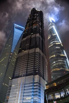 Shanghai Dynamic Trio ( feels like those big buildings the evil cEOs work at )