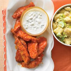 All-American Buffalo Chicken Tenders- these were pretty tasty, but not a light food!