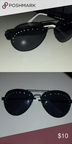 Black Aviators Play Boy Black aviators  with Gem lining Play Boy Accessories Sunglasses