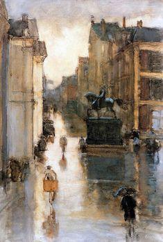 Floris Arntzenius (Dutch, 1864 - 1925) 'Noordeinde Den Haag'