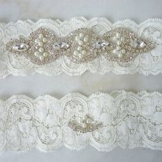 C r y s t a l P e a r l - Flower Heirloom Garter Set With Ivory ......   http://www.artfire.com/ext/shop/product_view/poshbridalcouture/3708358/c_r_y_s_t_a_l___p_e_a_r_l__-_flower_heirloom_garter_set_with_ivory_______/handmade/wedding#