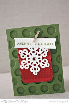 Nordic Knits, Ornament Banner Builder, Blueprints 20 Die-namics, Jumbo Dot Cover-Up Die-namics, Pierced Snowflakes Die-namics, Stitched Rounded Rectangle STAX Die-namics - Keisha Campbell #mftstamps