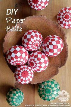Second atelier de DIY : les boules en papier !!! Sinon circulez y a rien à voir !!!