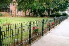 Decoration Style, The Exciting Design Of Rod Iron Fence With Best And Charming Tyle Of Iron Fence Looked Modern And Breathtaking In The Yard Looked Beautiful And Interesting With Good Design: The Nice Design Of Rod Iron Fence With Great And Modern Decoration Style Idea