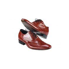 f5d576f56a7e Pánske kožené spoločenské topánky červené PT158 - manozo.hu