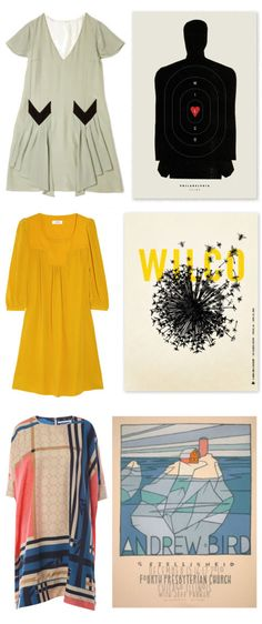 A dress and a gig poster -- love that yellow shift