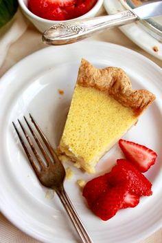 Meyer Lemon Buttermilk Pie by the bojongourmet #Pie #Buttermilk #Lemon