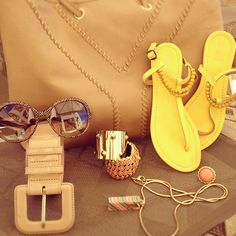 Closer look on my today accessorise outfit #ysl #bag #bags #yellow #sandal #by #benetton #missoni #necklace #lkbennett #patent #beige  #belt #gold #cuff #stud #by #hm #orange #ring #orange #and #gold #bracelet #sunglasses #summer #accessorise #jewlery #fashion #style #intafashion #instagram - @fashion_glance- #webstagram