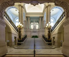 Category:Staircase of honour of the Royal Palace, Brussels Second Empire, Stairway To Heaven, Royal Palace, Palaces, Stairways, Bungalow, Castle, Fair Grounds, Mansions