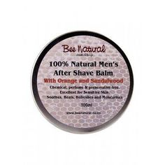 Bee Natural Men's Aftershave Balm Natural Man, Natural Skin Care, Cinnamon Essential Oil, Essential Oils, Men's Aftershave, After Shave Balm, Sensitive Skin, Shaving, The Balm