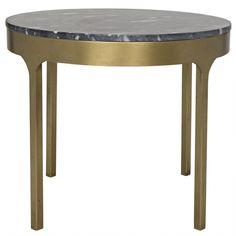 Carol Side Table W/Black Stone, Antiq | Memoky.com