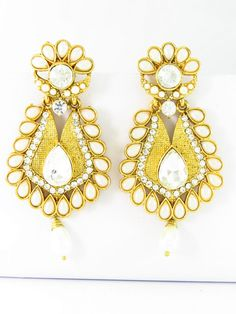 Presenting latest Kundan Jewellery at our online store, buy variety of Indian Kundan Earrings here, online shopping with free shipping option available to USA and one time cheapest shipping to other countries.