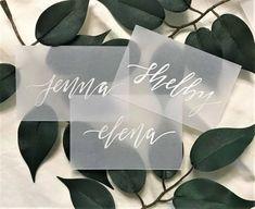 #Vellum #Wedding #Name #Cards