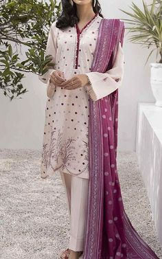 Off-white Lawn Suit | Buy Sapphire Pakistani Dresses and Clothing online in USA, UK Pakistani Lawn Suits, Pakistani Dresses, Fashion Pants, Fashion Dresses, Suits Online Shopping, Add Sleeves, Lawn Fabric, Pakistani Designers, Famous Brands