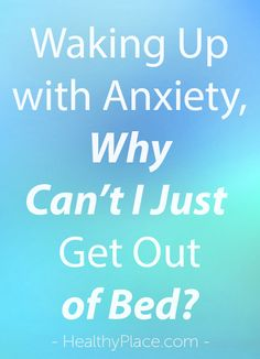 Coping with morning anxiety. Tips to start the day and manage panic. From Kate White, Treating Anxiety blog.   www.HealthyPlace.com