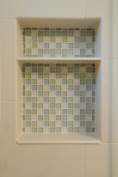 Spa Bath Contemporary One Tile As Base Of Niche Shower