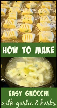 How To Make Easy Gnocchi I love Gnocchi! BUT, I don't like the shop bought packages of gnocchi. They are either too salty, or taste rubbery, or have a 'synthetic' flavour, probably some additives used in the production process. Firstly, I don't claim to be Italian, nor am I a trained Italian cook! However, this is simply how I make my gnocchi, which is easy, delicious and versatile. In the photo, I added chopped basil and garlic flavour. I change the flavours around whenever...