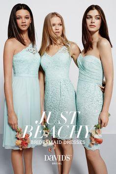 Bridesmaid dresses perfect for beach weddings, only at David's Bridal.
