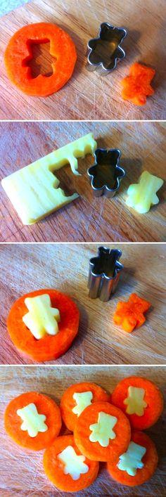 zanahoria receta monedas queso